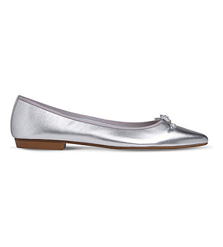 sale best seller L.K. Bennett Metallic Leather Flats discount release dates buy cheap authentic buy cheap geniue stockist visit new online yiIo67a