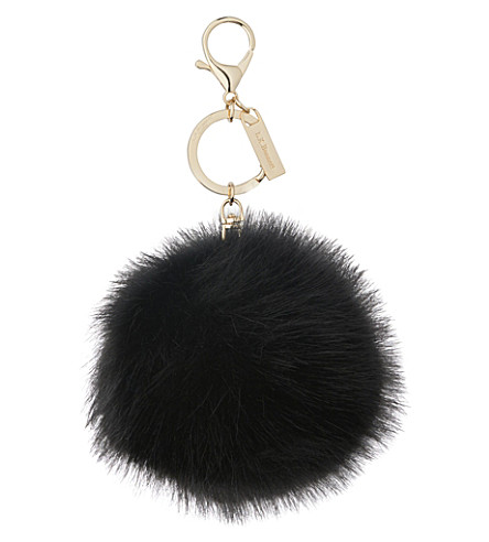 LK BENNETT Oa ivy faux-fur pom pom key chain (Bla-black
