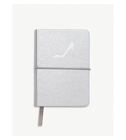 LK BENNETT Indira leather A5 notebook (Sil-silver