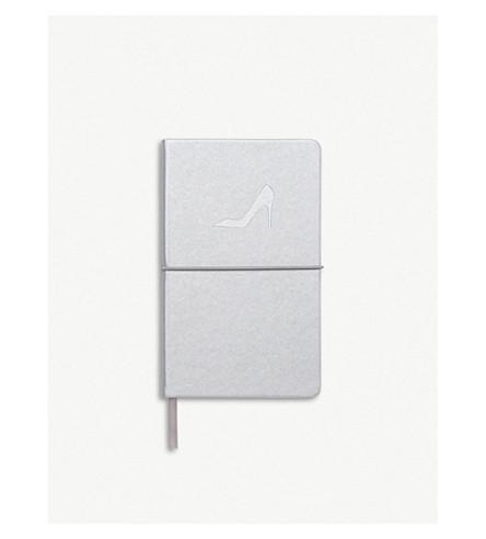 LK BENNETT Indir leather A6 notebook (Sil-silver