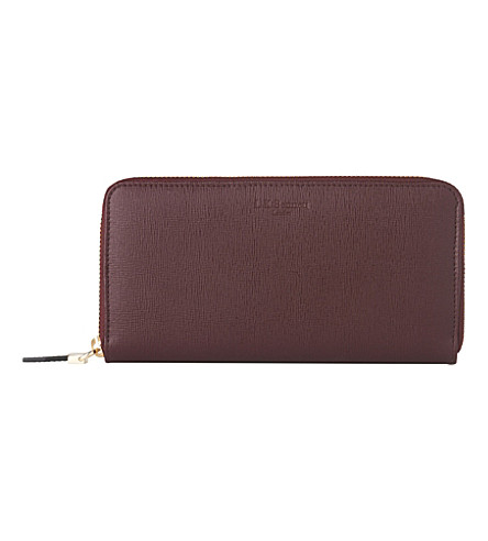 LK BENNETT Kenza long zip-around purse (Red-oxblood