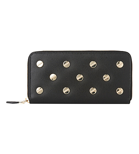 LK BENNETT Kenza long zip-around purse (Bla-black