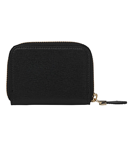 LK BENNETT Rea leather coin purse (Bla-black