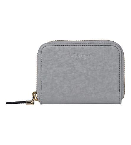 LK BENNETT Rea leather coin purse (Gry-mist