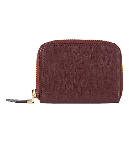 LK BENNETT Rea leather coin purse (Red-oxblood