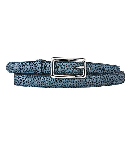 LK BENNETT Glenda textured-leather belt (Blu-powder+blue
