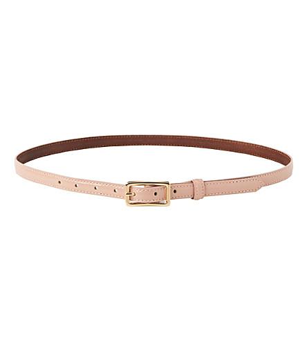 LK BENNETT Glenda skinny patent-leather belt (Pin-marshmallow