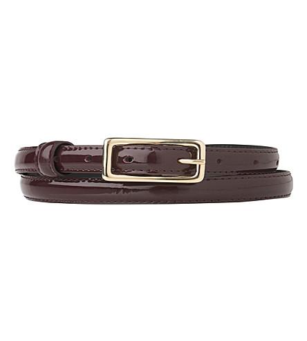 LK BENNETT Glenda patent-leather belt (Red-oxblood
