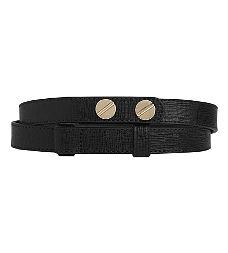 LK BENNETT Zahara buttoned leather belt (Bla-black
