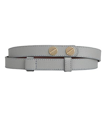 LK BENNETT Zahara buttoned leather belt (Gry-mist