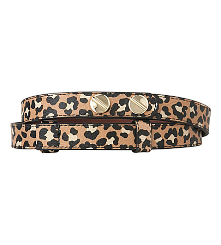 LK BENNETT Zahara buttoned leather belt (Pri-animal
