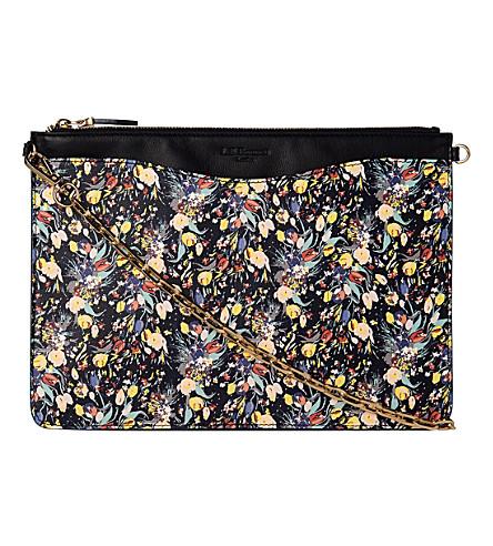 LK BENNETT Rachel floral leather cross-body bag (Pri-navy
