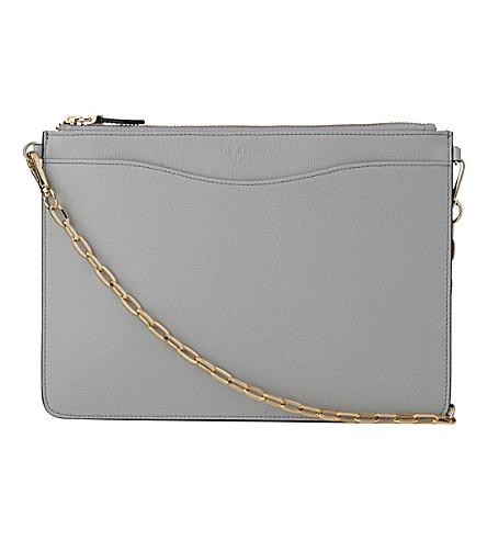 LK BENNETT Rachel leather pouch (Gry-mist