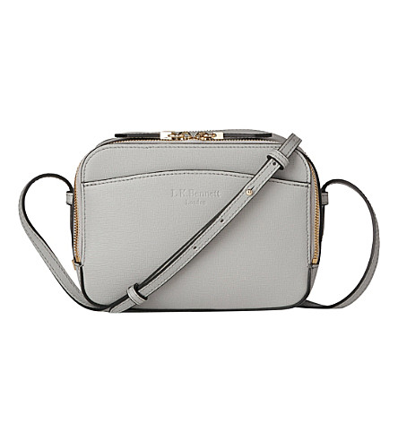 LK BENNETT Mariel boxy leather cross-body bag (Gry-mist