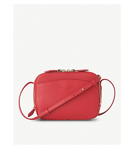 LK BENNETT Mariel leather cross-body bag (Red-roca+red
