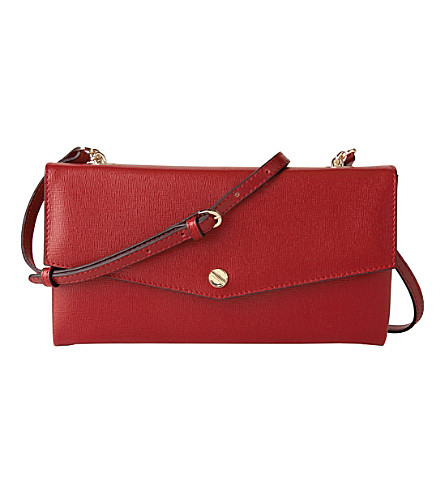 LK BENNETT Dakoda leather shoulder bag (Red-roca red
