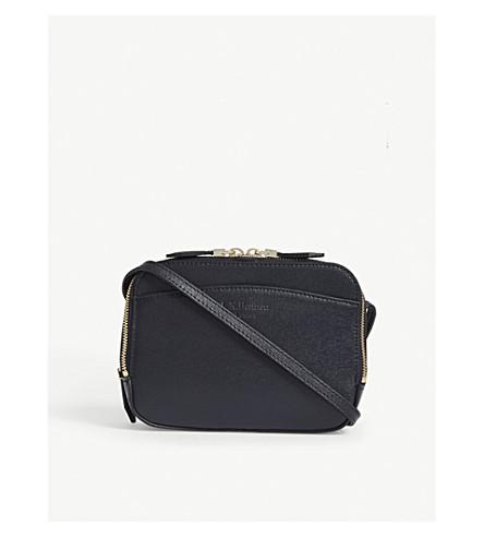 LK BENNETT Mariel saffiano leather cross-body bag (Blu-sloane+blue