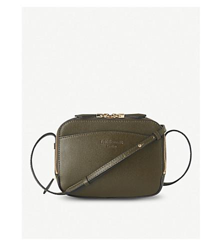 LK BENNETT Mariel leather cross-body bag (Gre-khaki