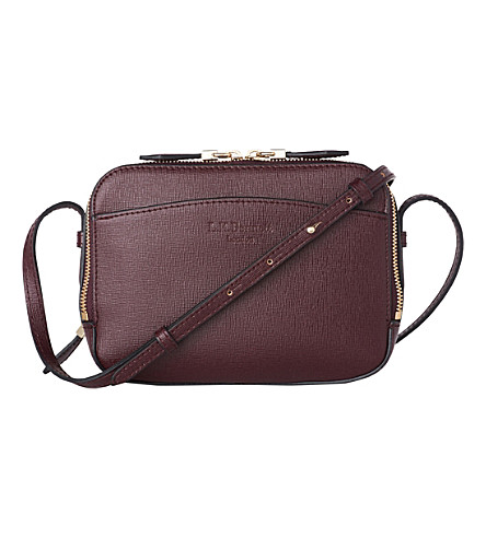 LK BENNETT Mariel leather cross-body bag (Red-oxblood
