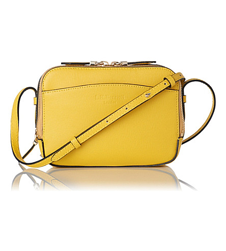 LK BENNETT Mariel leather cross-body bag (Yel-sunshine