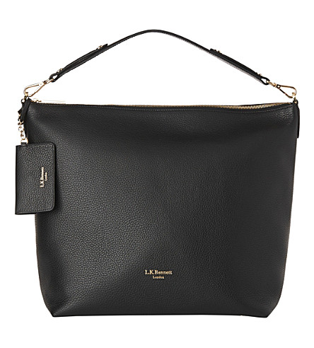 LK BENNETT Margot leather hobo bag (Bla-black
