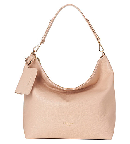 LK BENNETT Margot leather hobo bag (Nat-putty