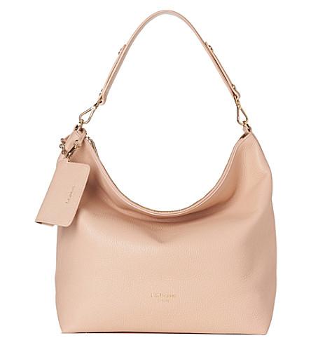 LK BENNETT Margot leather hobo bag (Nat-putty