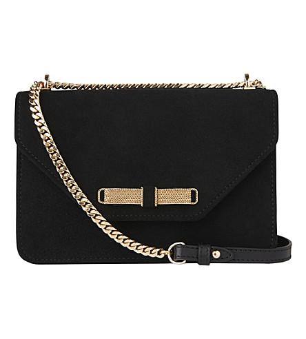 LK BENNETT Karla suede shoulder bag (Bla-black