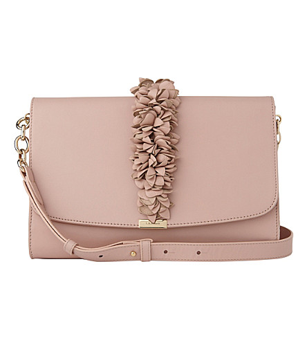 LK BENNETT Lilac leather shoulder bag (Pin-marshmallow