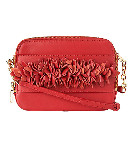 LK BENNETT Mia crossbody bag (Red-roca+red