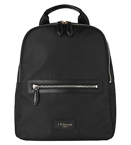 LK BENNETT Becky leather-trimmed backpack (Bla-black
