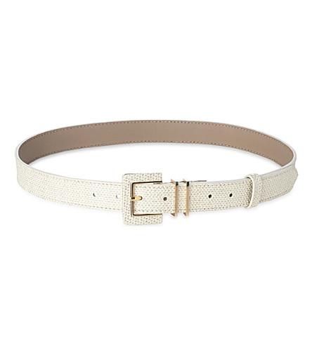 LK BENNETT Gena skinny waist belt (Gol-soft+gold