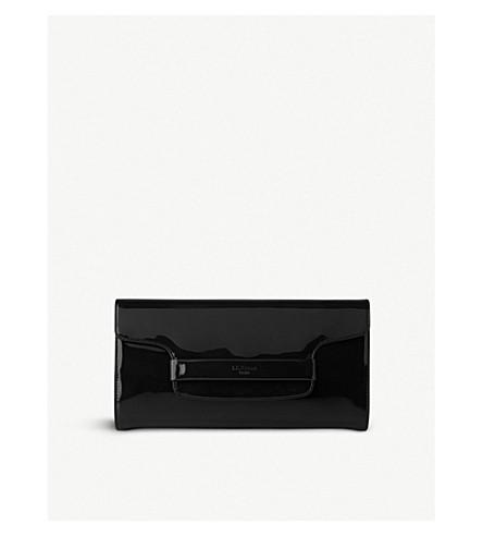 LK BENNETT Laura patent-leather clutch bag (Bla-black