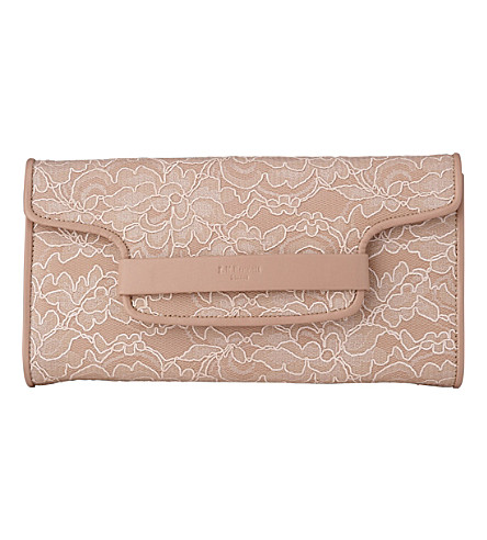 LK BENNETT Laura - clutch with flap (Pin-marshmallow