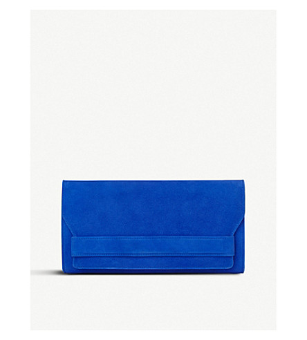 Ella suede clutch bag