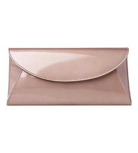LK BENNETT Flo patent leather envelope clutch bag (Gol-soft gold