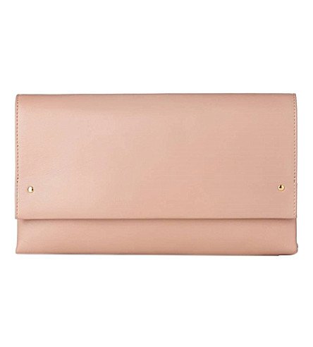 LK BENNETT Madeline nappa clutch bag (Bei-trench