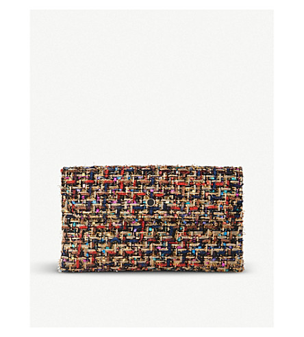 LK BENNETT Dora - clutch with metal (Bla-black+mix