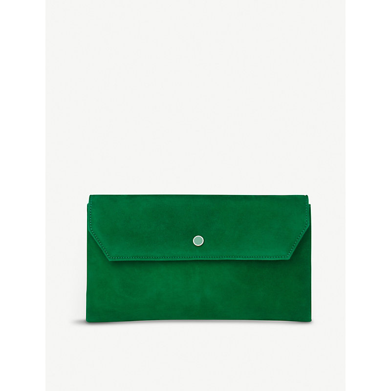 Dora suede clutch bag