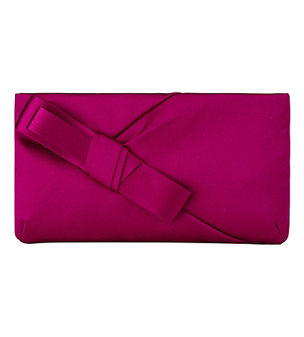 LK BENNETT Frances satin shoulder bag (Pin-fuchsia