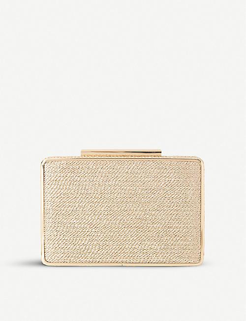 LK BENNETT Nina metallic rattan box clutch