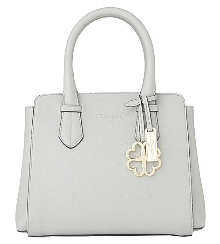LK BENNETT Cassandra small leather tote bag (Gry-mist
