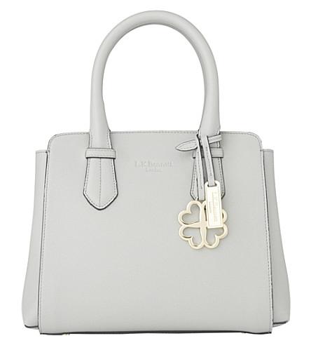 LK BENNETT Cassandra small leather tote bag (Gry-mist