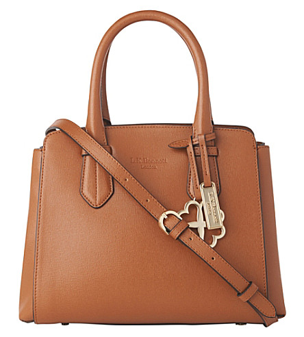 LK BENNETT Cassandra small leather tote bag (Tan-tan