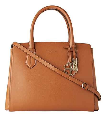 LK BENNETT Catrina saffiano leather tote bag (Tan-tan
