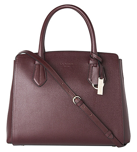 LK BENNETT Catrina saffiano-leather tote bag (Red-oxblood
