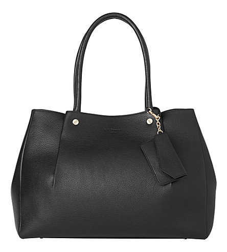LK BENNETT Regan pelated leather tote (Bla-black