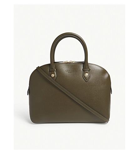 LK BENNETT Camilla Saffiano leather tote (Gre-khaki