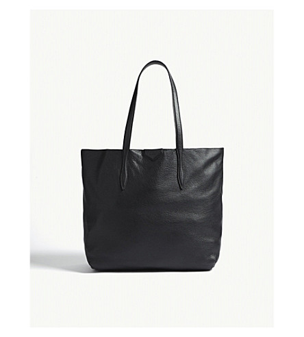 LK BENNETT Peggy leather tote (Bla-black