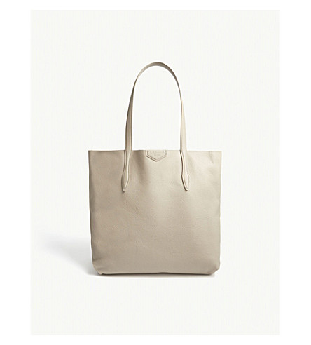 LK BENNETT Peggy leather tote bag (Bro-taupe